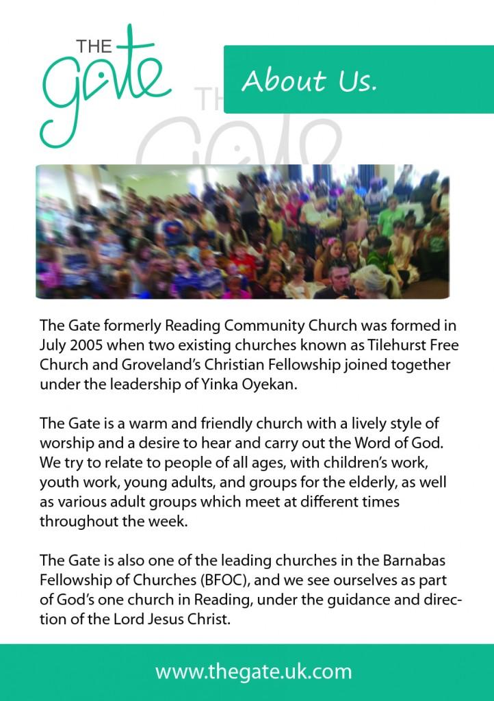 The Gate leaflet 1